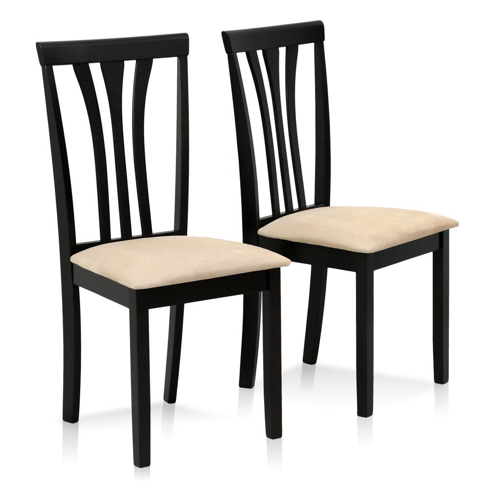Furinno Franklin Espresso Solid Wood Dining Chairs (Set Of 2)