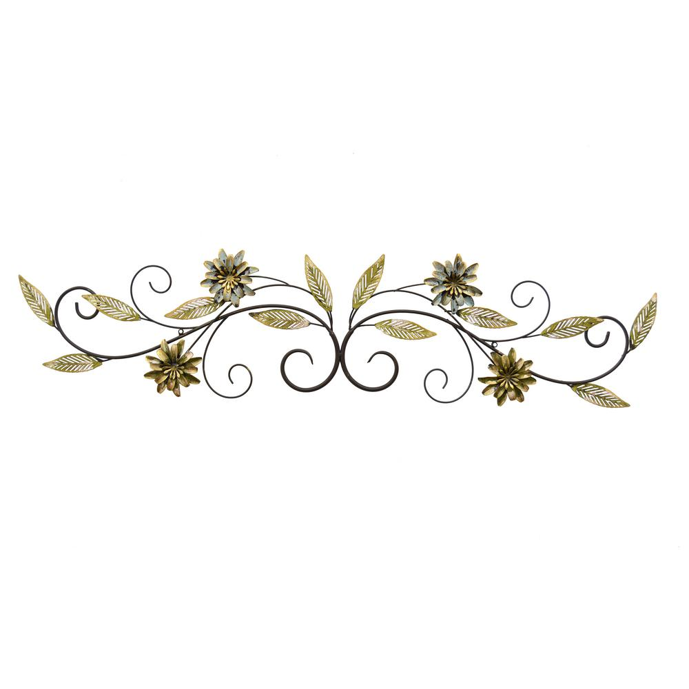 Three Hands Metal Floral Wall Art