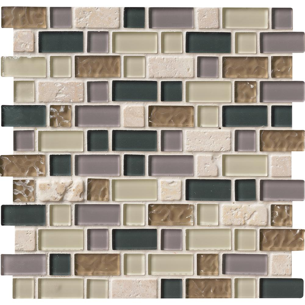 Msi Stonecrest Interlocking 12 In X 8 Mm Gl And Stone Mesh Mounted Mosaic Tile Sglsil Sc8mm The Home Depot