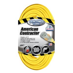 Southwire 100 ft. 14/3 SJEO Outdoor Medium-Duty T-Prene Extension Cord with... by Southwire