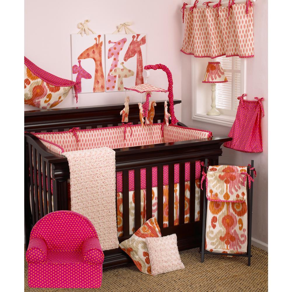 Sundance Pink and Orange Polka Dot Cotton Kid's Foam Chair