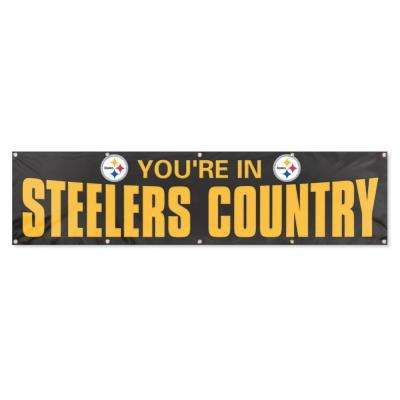 Pittsburgh Steelers Giant 8 ft. x 2 ft. Banner Black