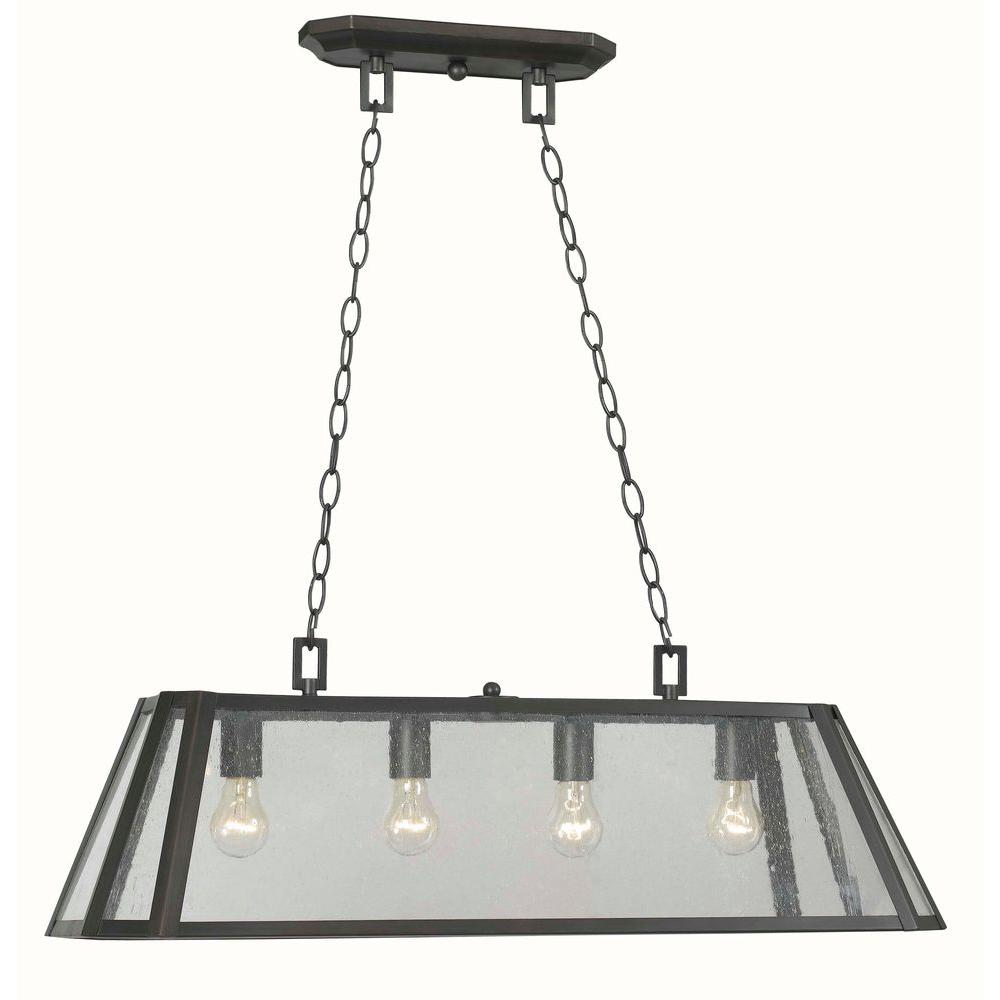 World Imports Bedford 4-Light Oiled Rubbed Bronze Glass Island Pendant-WI613488 - The Home Depot  sc 1 st  The Home Depot & World Imports Bedford 4-Light Oiled Rubbed Bronze Glass Island ... azcodes.com