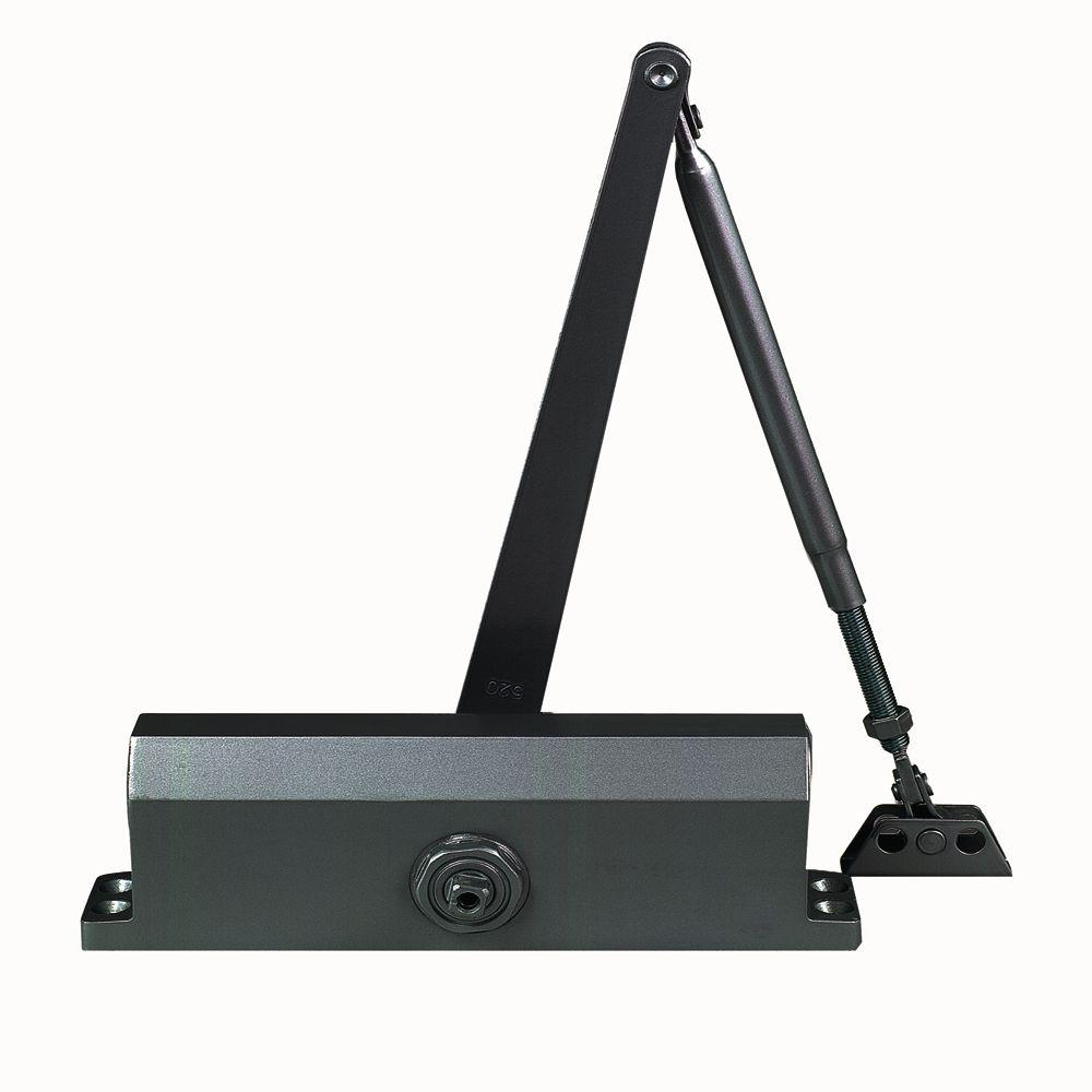 Global Door Controls Commercial ADA Door Closer in Duronotic with Adjustable Spring Tension - Sizes 1-4