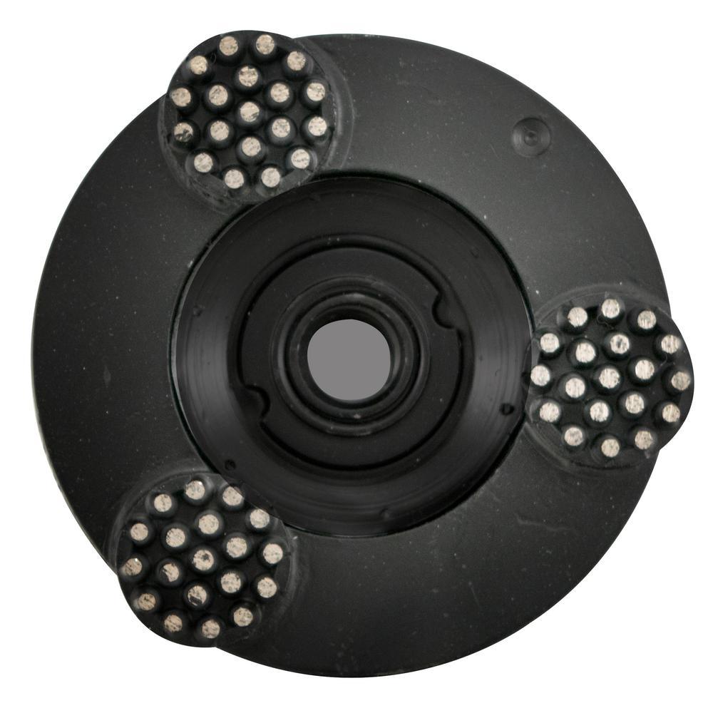 4 in. Pro Series Spike Grinding Wheel Wet / Dry 5/8 in. -11 Thread
