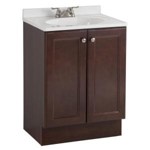 24 Inch Bathroom Vanity With Legs glacier bay modular 24.5 in. w bath vanity in java with solid