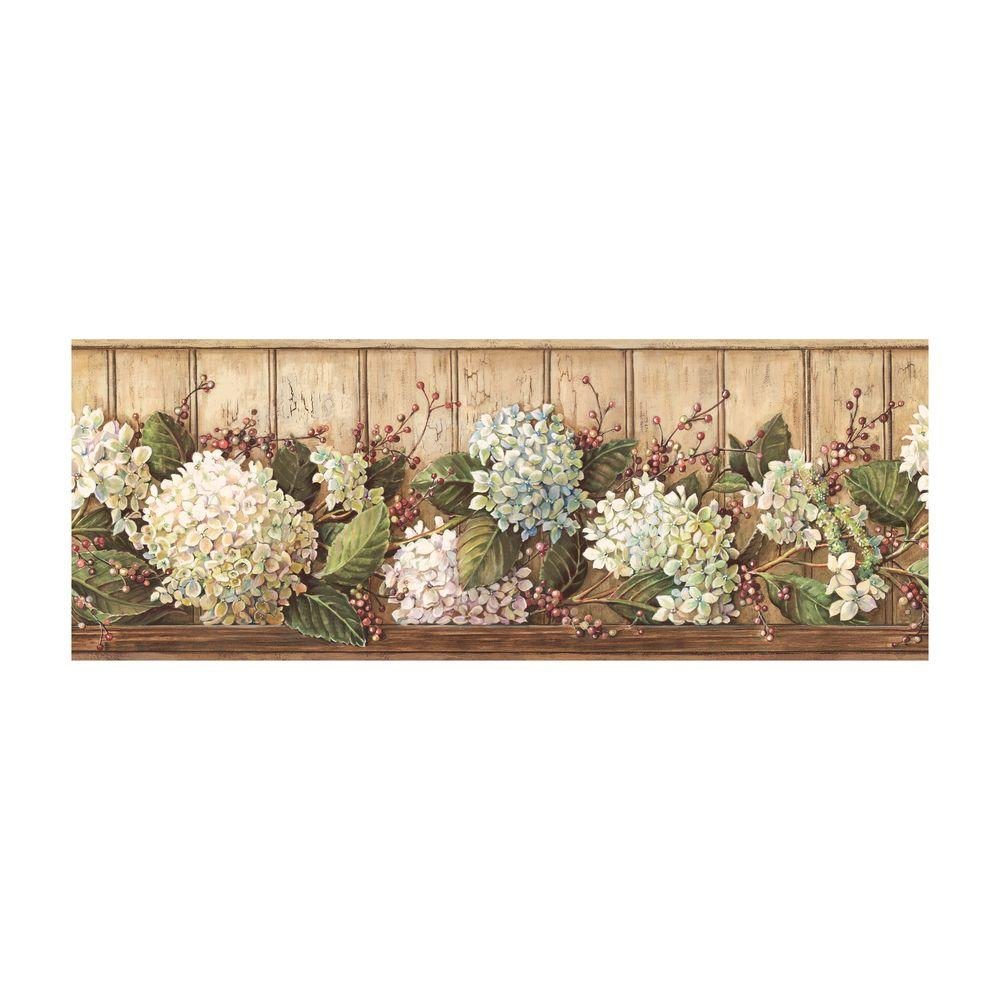 Best of Country Hydrangea Wallpaper Border