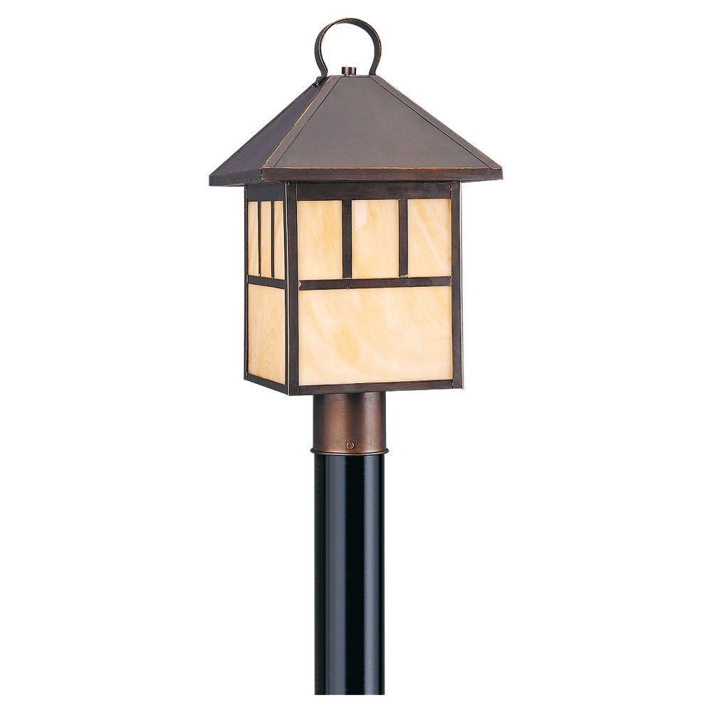 Prairie Statement 1-Light Antique Bronze Outdoor Post Top