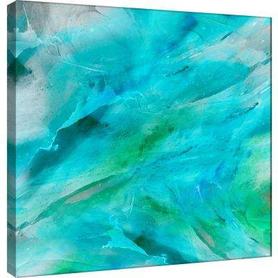 15.in x 15.in ''Blue Study'' Printed Canvas Wall Art