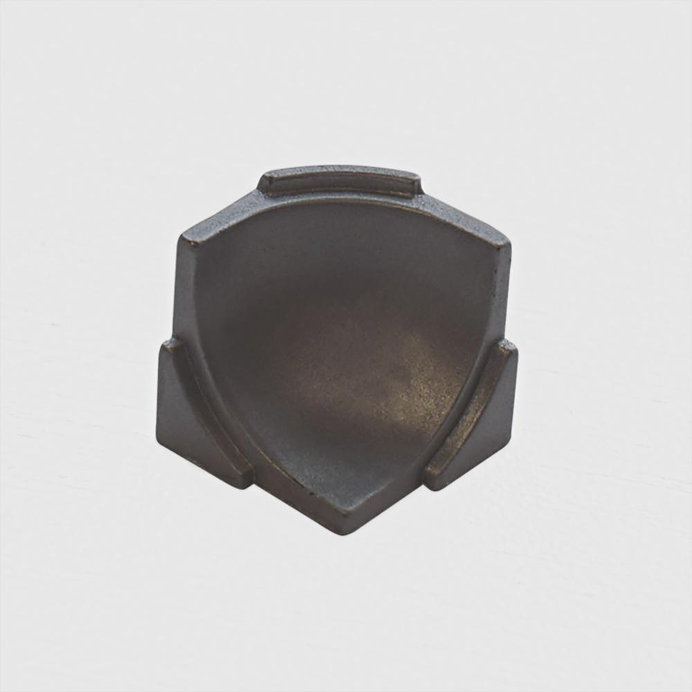 Internal Angle NS5 Matt Silver 7/8 in. x 7/8 in. Complement Aluminum Tile Edging Trim