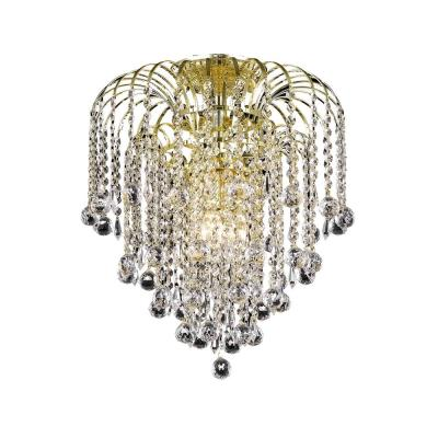 Timeless Home Angelo 16 In W X 16 In H 4 Light Gold Flush Mount Lvnf13604f16g The Home Depot