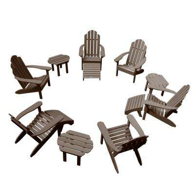 Classic Wesport Weathered Acorn 12-Piece Plastic Patio Fire Pit Seating Set