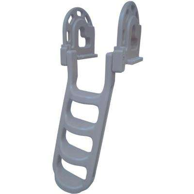 Stand Off Roto Dock 4 Step Ladder, Gray
