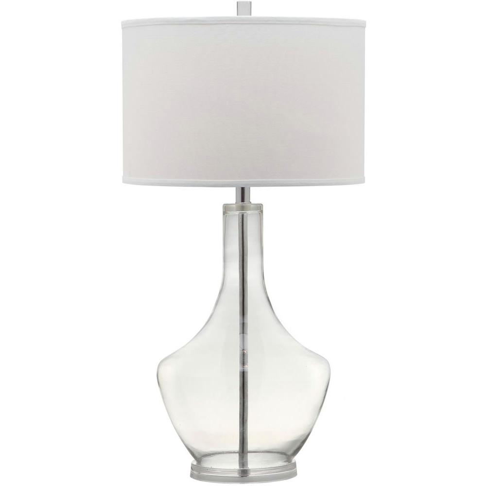 Safavieh mercury 33 in clear table lamp lit4141d the home depot internet 205314187 safavieh mercury 33 in clear table lamp aloadofball Image collections