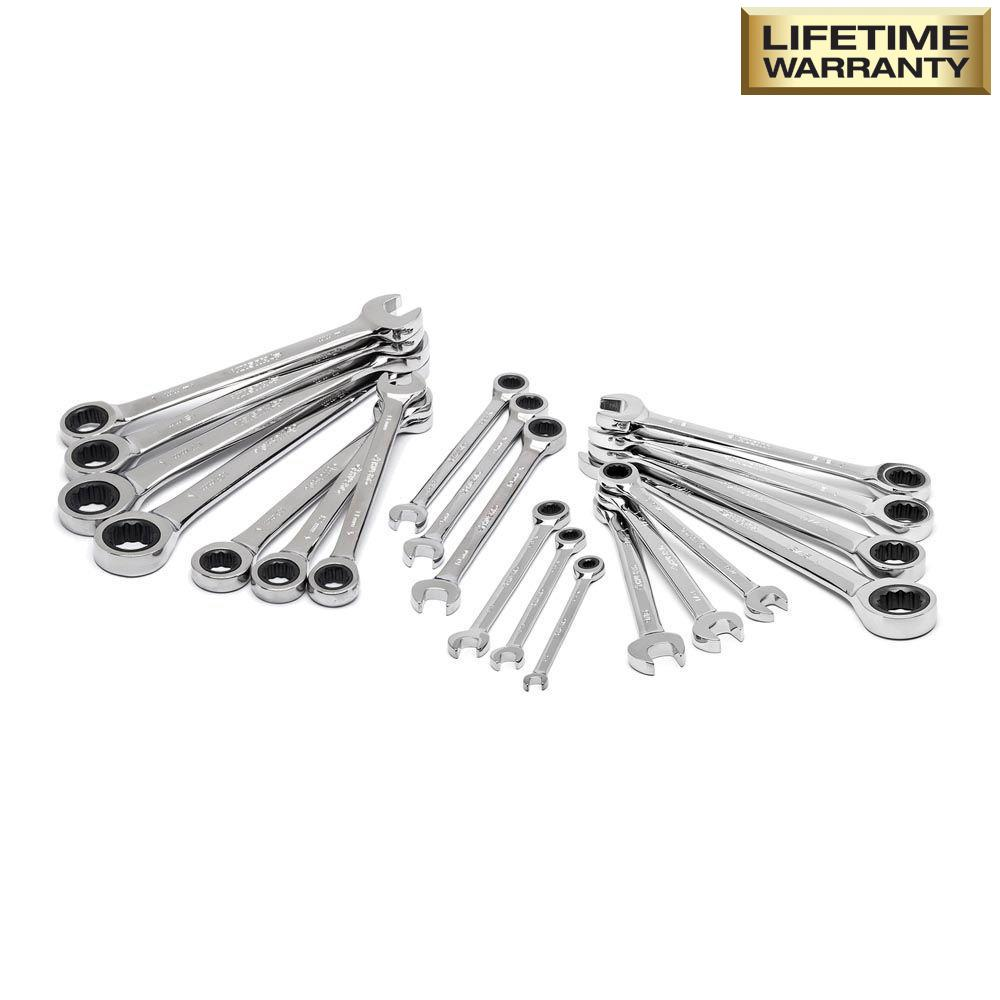 Husky SAE/Metric Combination Ratcheting Wrench Set (20-Piece)