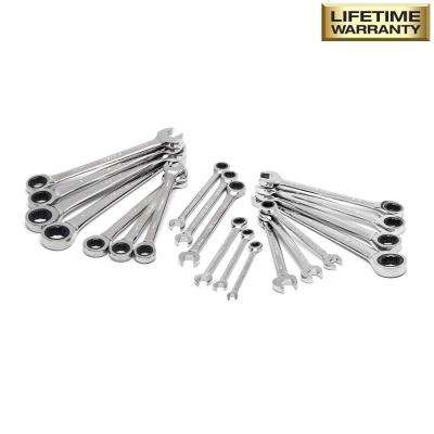 SAE/Metric Combination Ratcheting Wrench Set (20-Piece)