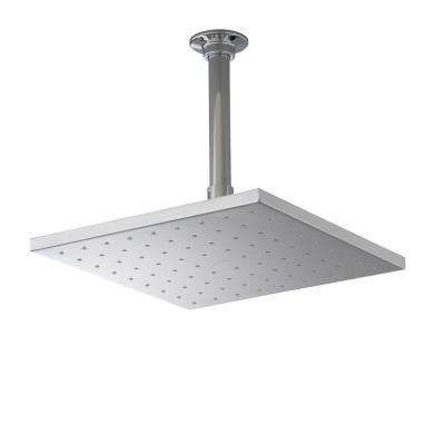 1-spray Single Function 10 in. Contemporary Square Rain Showerhead in Polished Chrome