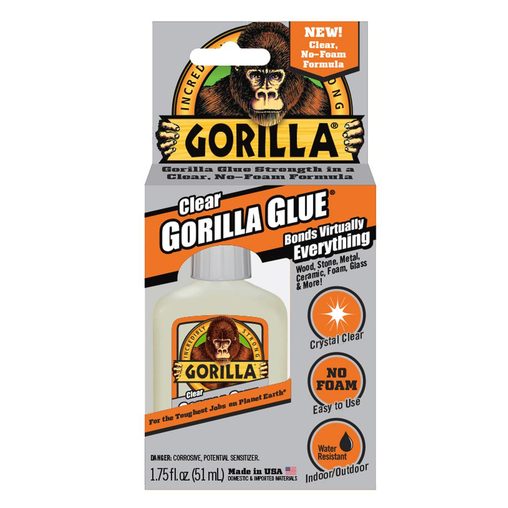 Gorilla 175 Oz Clear Glue 4500100 The Home Depot