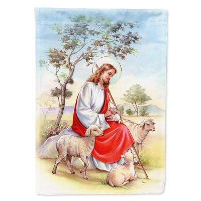 11 in. x 15-1/2 in. Polyester Jesus Holding Lamb 2-Sided 2-Ply Garden Flag