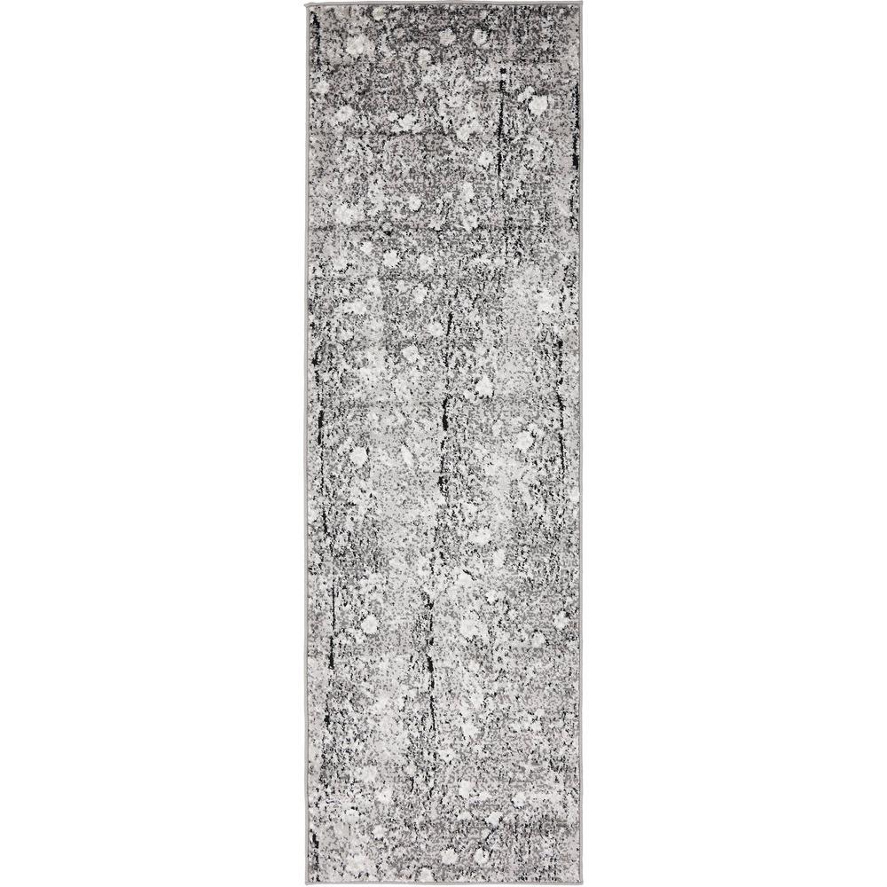 Metro Crags Gray 2' 0 x 6' 7 Runner Rug