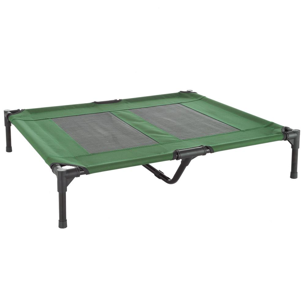 Petmaker Large Green Elevated Pet Bed Hw3210137 The Home