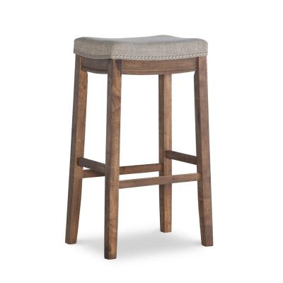 Claridge 30 in. Gray and Rustic Backless Bar Stool