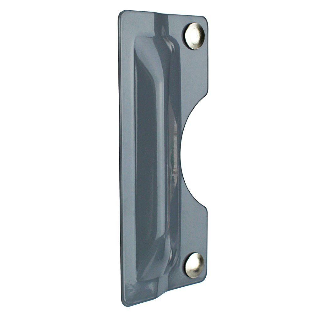 3 in. x 7 in. Gray Latch Shield