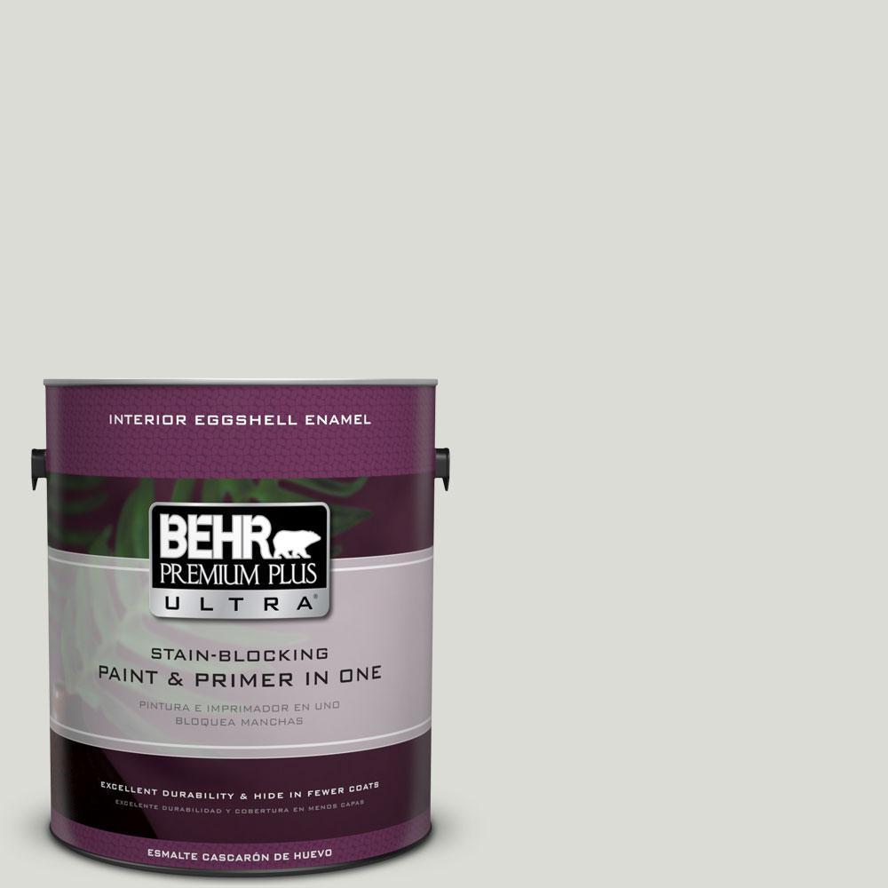 BEHR Premium Plus Ultra 1-gal. #BWC-29 Silver Feather Eggshell Enamel Interior Paint