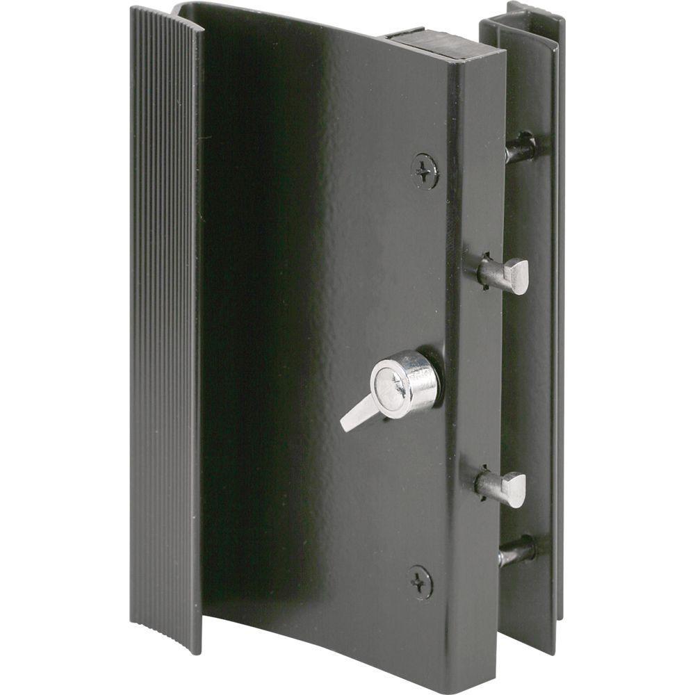 Prime-Line Sliding Door Handle Set, Black Aluminum
