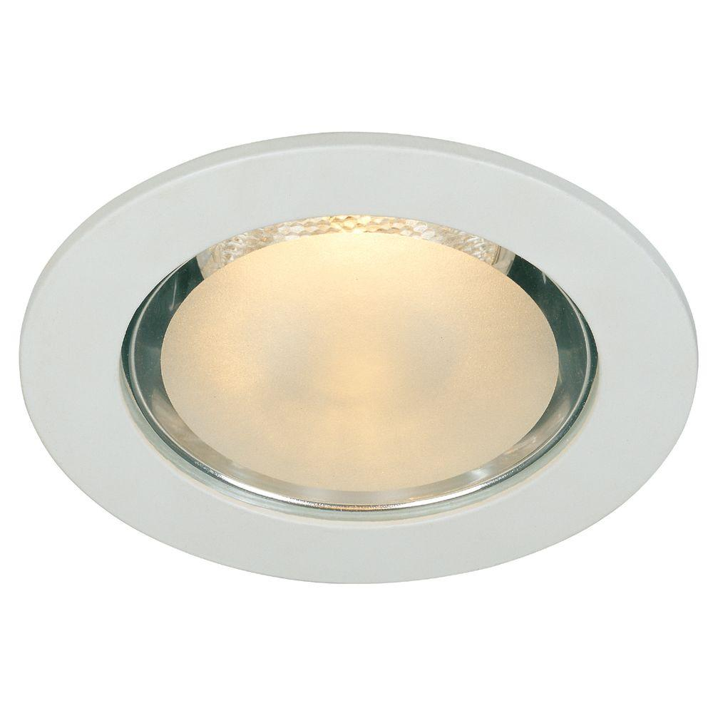 Commercial Electric 4 In White Shower Recessed Lighting Trim