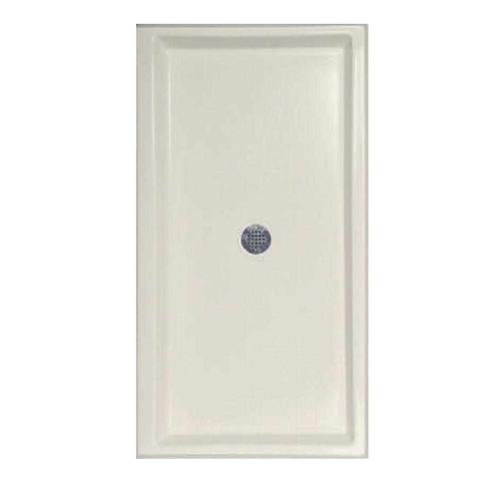 48 in. x 34 in. Single Threshold Shower Base in Biscuit