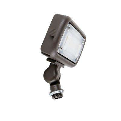 15-Watt Bronze Outdoor Integrated LED Landscape Weatherproof Wall Wash Flood Light