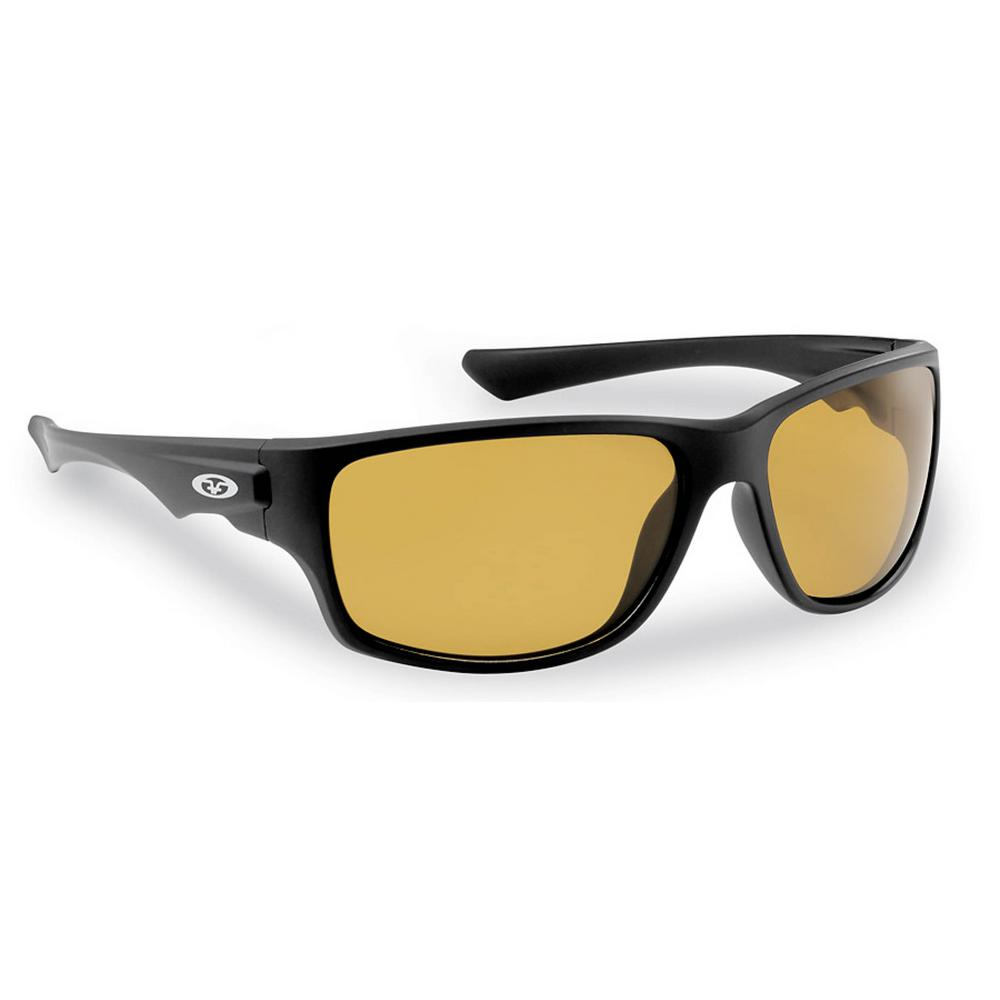 2d061b2f36 Flying Fisherman Roller Polarized Sunglasses Matte in Black Frame with  Yellow Amber Lens