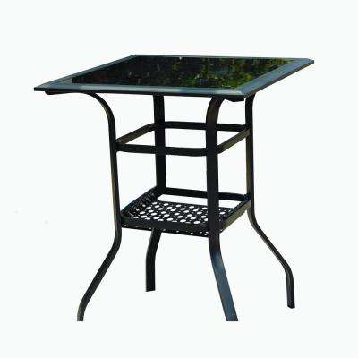 Square Metal Bar Height Outdoor Dining Table