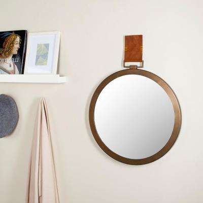 Time Out 21 in. x 21 in. Iron Framed Mirror