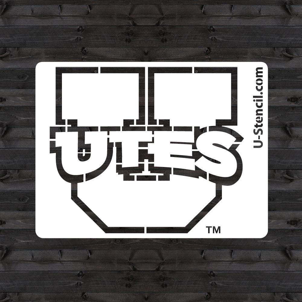"""Utah """"UTES"""" Mini Stencil"""