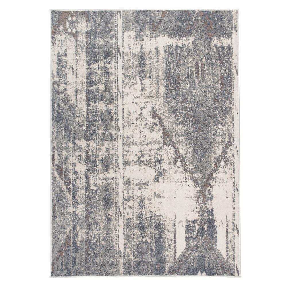 Distressed Contemporary Bohemian Gray 5'x7' Area Rug