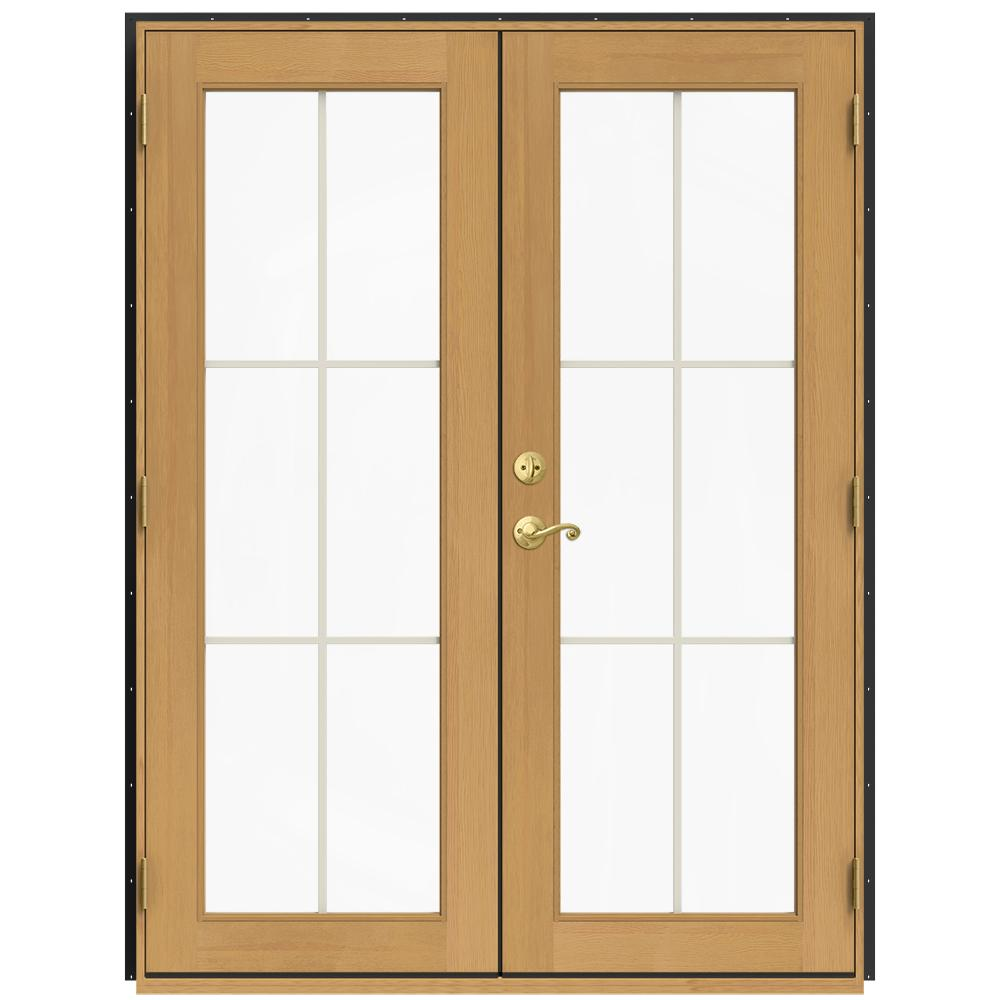 jeld wen 60 in x 80 in w 2500 bronze clad wood - 60 Patio Door