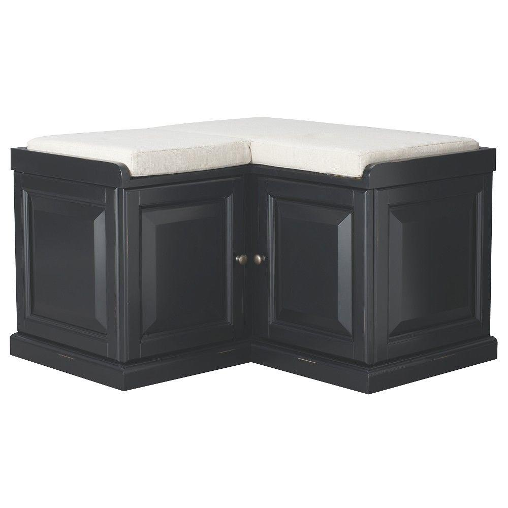 Home Decorators Collection Walker Black Storage Bench