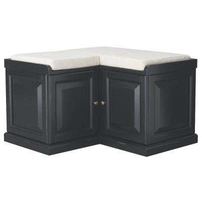 Walker Black Storage Bench