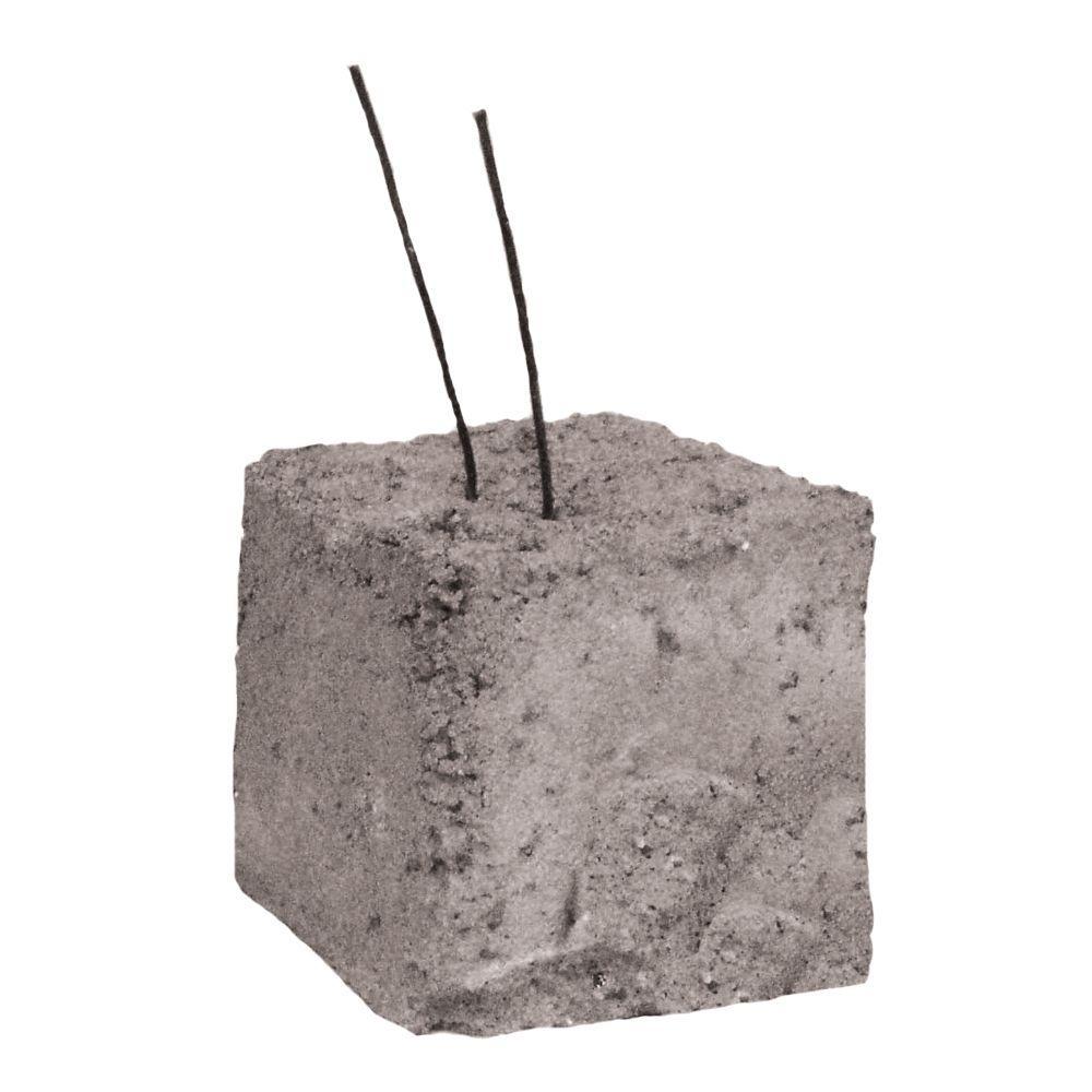 Basalite 3 in. x 3 in. x 3 in. Wire Dobie Concrete Brick-200000251 ...
