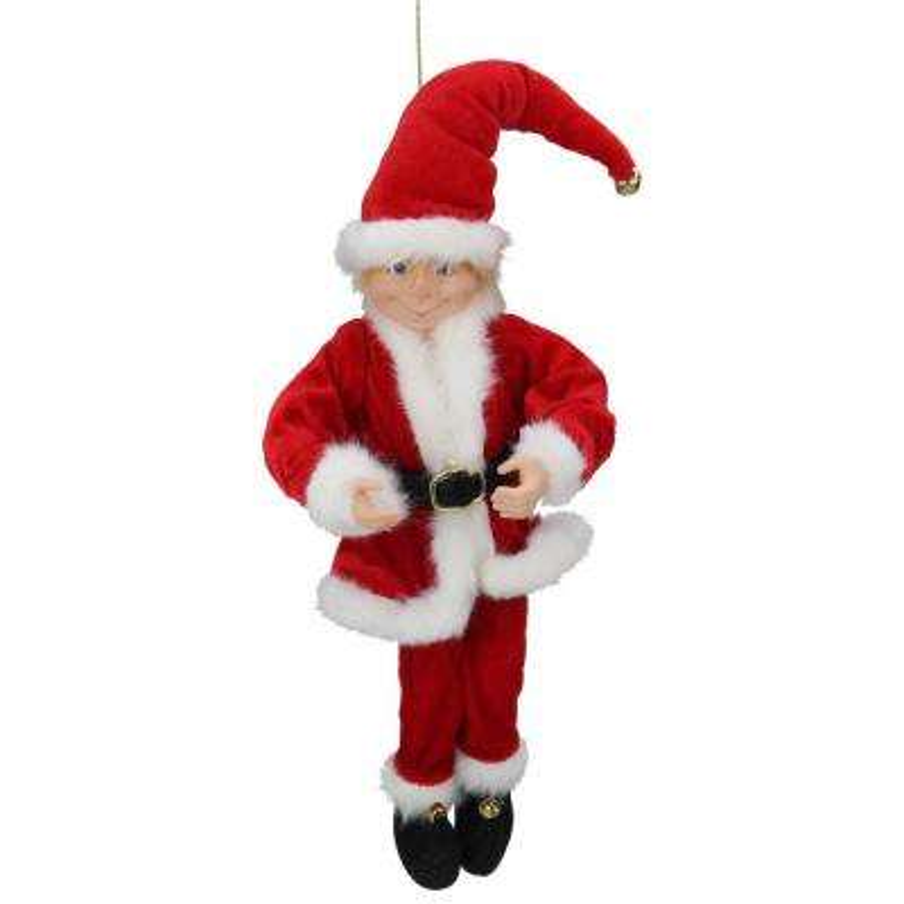15 in. Bendable Elf Santa Suit in Red