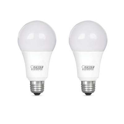 100-Watt Equivalent A19 Dimmable CEC Title 24 Compliant LED ENERGY STAR 90+ CRI Light Bulb, Bright White (2-Pack)
