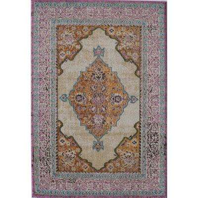 Barbara Gloria Ivory 4  ft. 0 in. x 5  ft. 7 in. Rectangular Area Rug