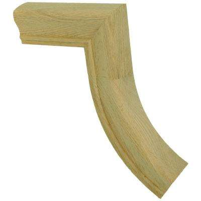 7098 Unfinished Red Oak 1-Rise Gooseneck Straight No Cap