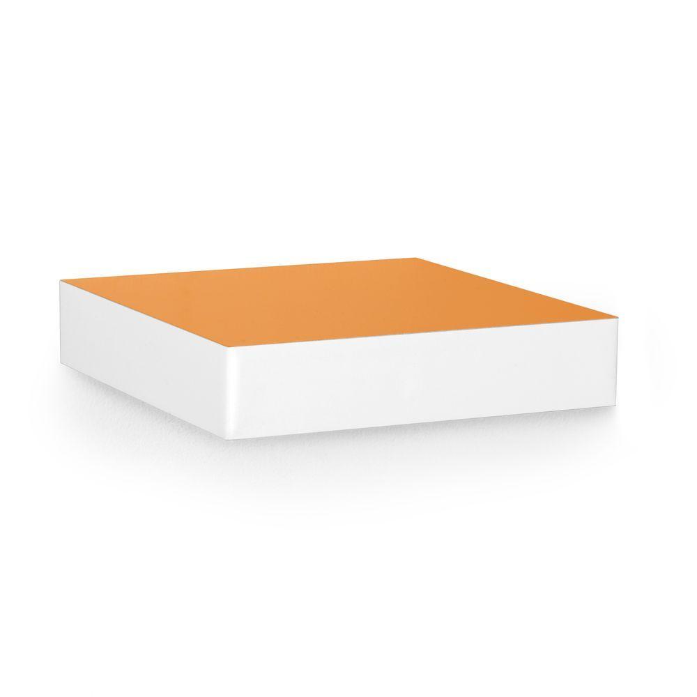Way Basics zBoard 9.8 in. x 2 in. Wall Shelf and Decorative Shelf in Orange