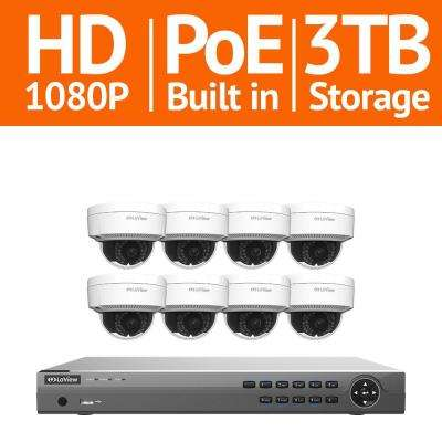16-Channel 1080p IP Surveillance 5TB NVR Security System 8 + 2 Free 1080p Wired Indoor Outdoor Cameras Remote View