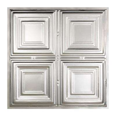 Syracuse 2 ft. x 2 ft. Lay-in Tin Ceiling Tile in Clear