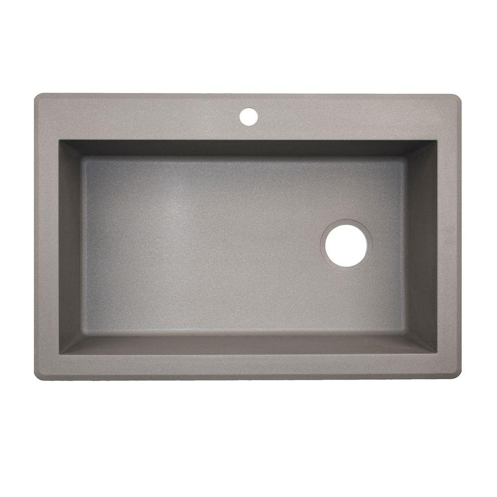 Granite Single Bowl Kitchen Sink Swan drop inundermount granite 33 in 1 hole single bowl kitchen swan drop inundermount granite 33 in 1 hole single bowl kitchen workwithnaturefo