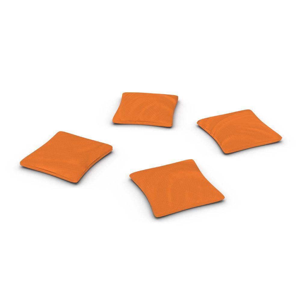 Official ACA Sized Orange Corn-filled Duck Cloth Cornhole Bags (4-Set)
